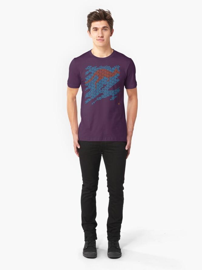 Alternate view of Kangaroo mosaic Slim Fit T-Shirt