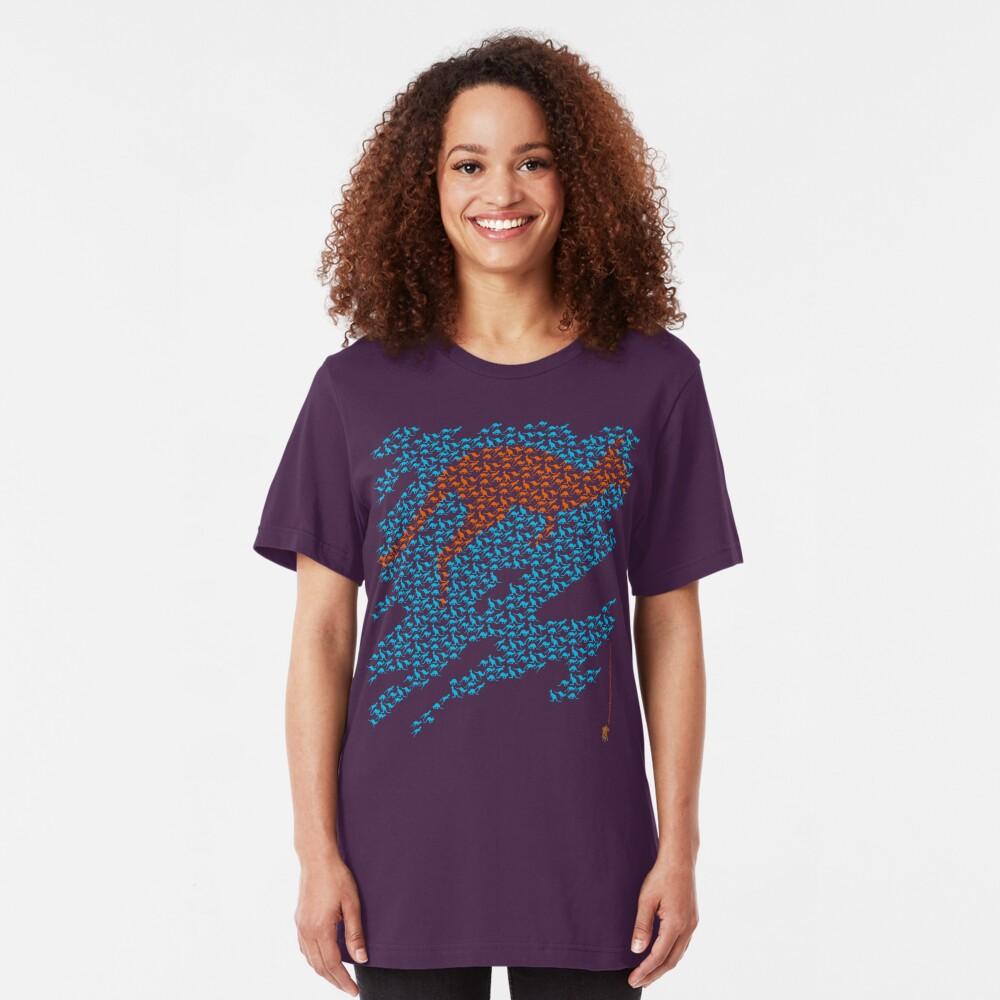 Kangaroo mosaic Slim Fit T-Shirt