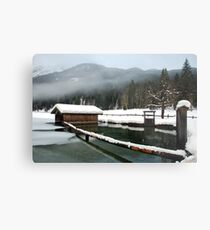 4 times H2O (water,snow,ice and mist) Metal Print