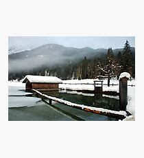 4 times H2O (water,snow,ice and mist) Photographic Print