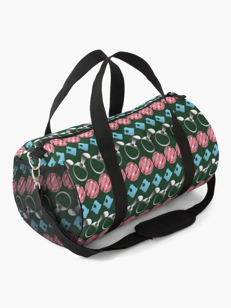 Alternate view of NDVH Retro-Litter Stripes Duffle Bag