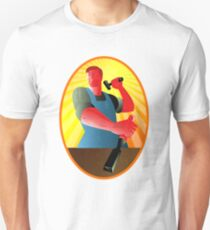 Carpenter Striking Hammer Chisel Retro Unisex T-Shirt