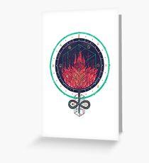 Fading Dahlia Greeting Card
