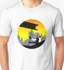 Construction Worker I-Beam Girder Retro Unisex T-Shirt