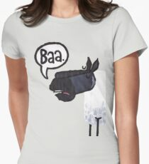 Sheep top Women's Fitted T-Shirt