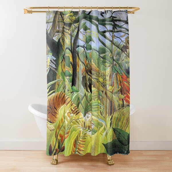 Favourite Artist - Henri Rousseau - Tiger In A Tropical Storm (Surprised!) Shower Curtain