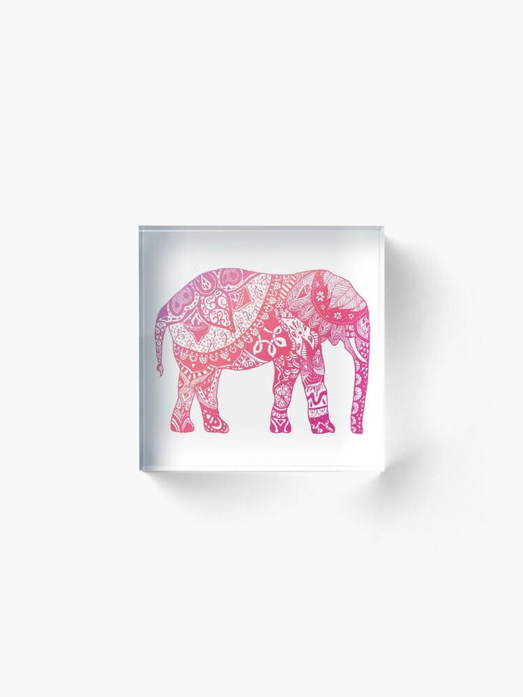Alternate view of Light Pink Elephant Acrylic Block