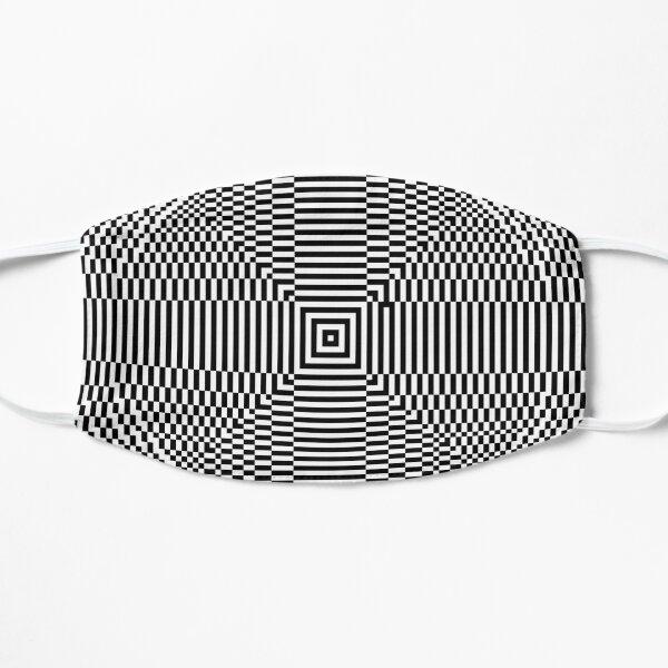 Big pixel circle chart, Psychedelic art. Art movement Flat Mask