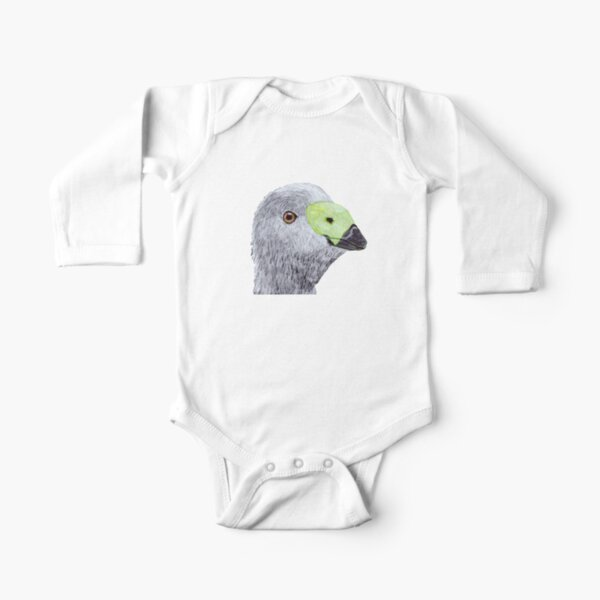 Cape Barren Goose (Cereopsis) Long Sleeve Baby One-Piece