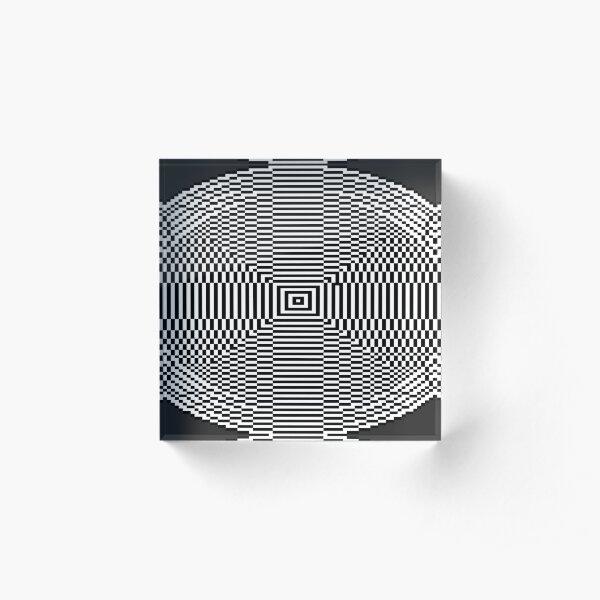 Big Pixel Ellipse Chart, Acrylic Block