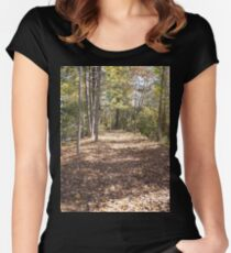 Walking Path Women's Fitted Scoop T-Shirt