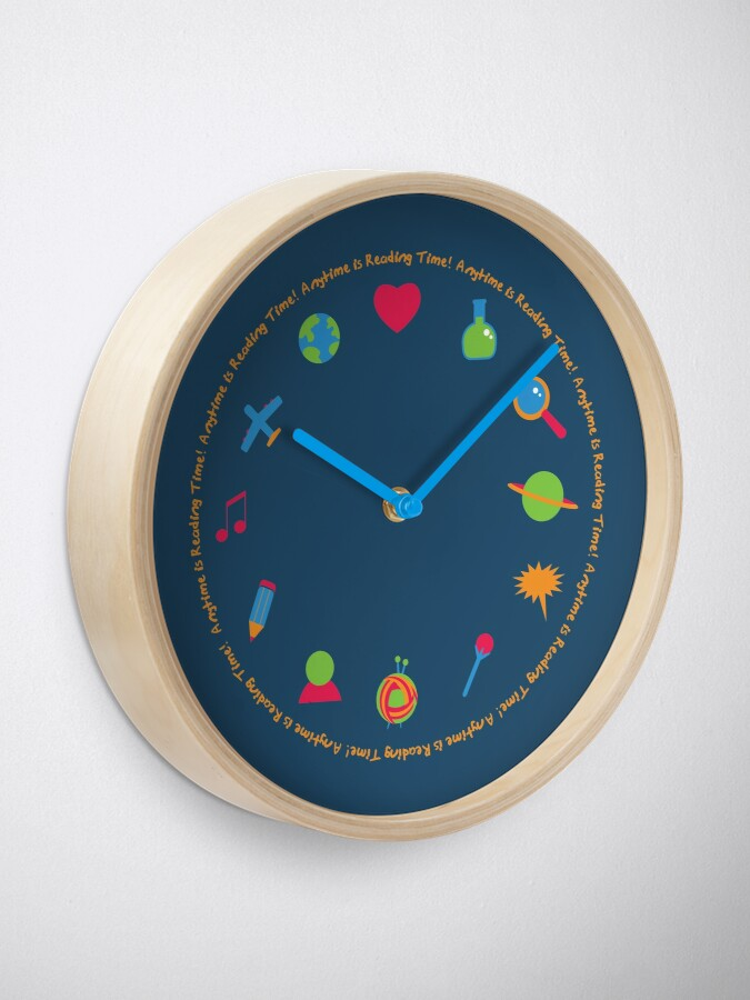 Alternate view of Anytime is Reading Time! Clock