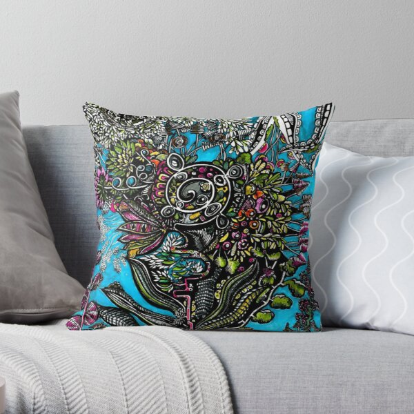 Tropic alley Throw Pillow