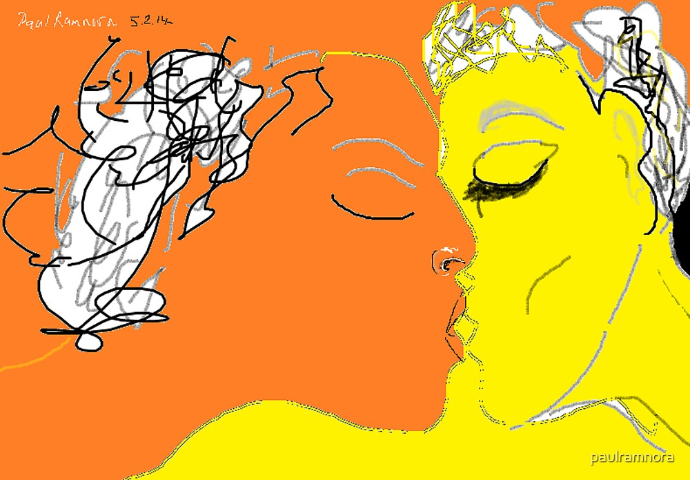 The Kiss -(050214)- Digital Artwork/MS Paint by paulramnora
