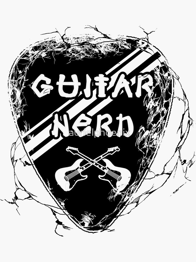 Guitar Nerd - Cool Electric Guitar Pick Design by aurielphoenix