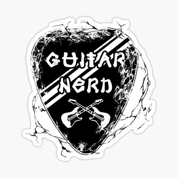 Guitar Nerd - Cool Electric Guitar Pick Design Sticker