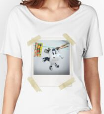 Cow on Wire Women's Relaxed Fit T-Shirt