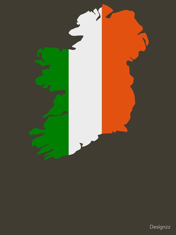 Ireland map flag by Designzz