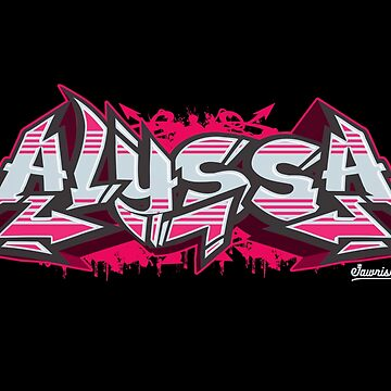 Alyssa Hip-Hop Graffiti Burner by Jawnism