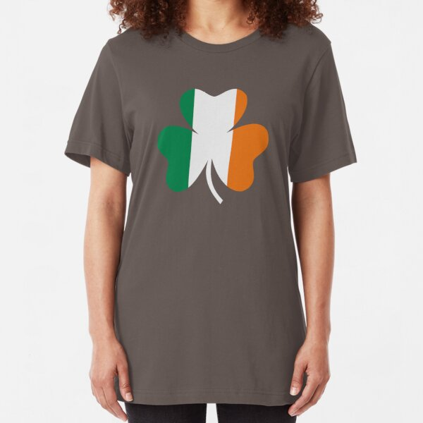 Ireland flag shamrock Slim Fit T-Shirt