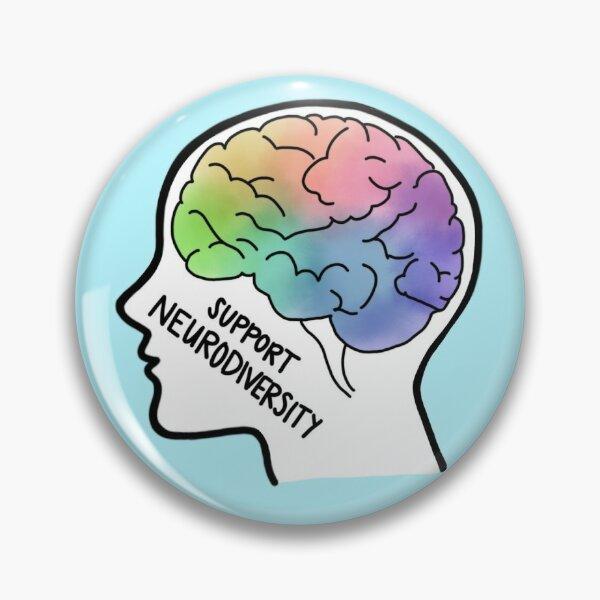 Support Neurodiversity - Colorful Brain  Pin