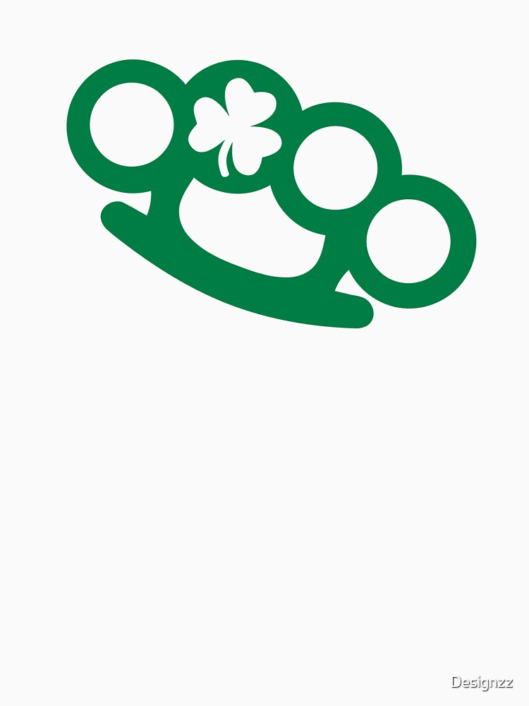 Irish brass knuckles shamrock by Designzz