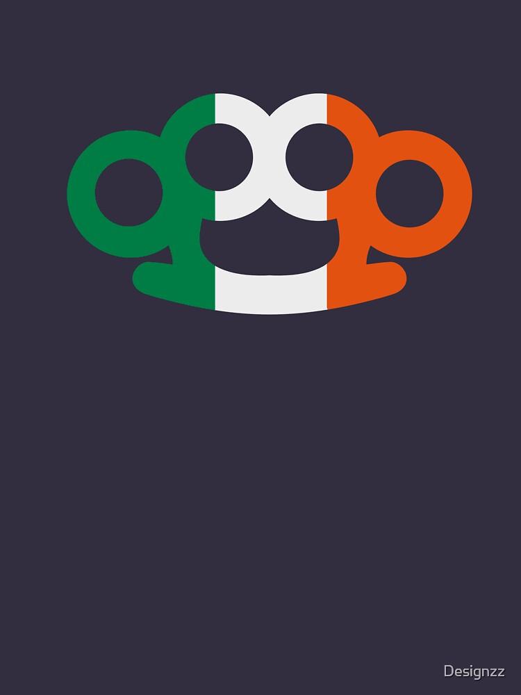Ireland flag brass knuckles by Designzz