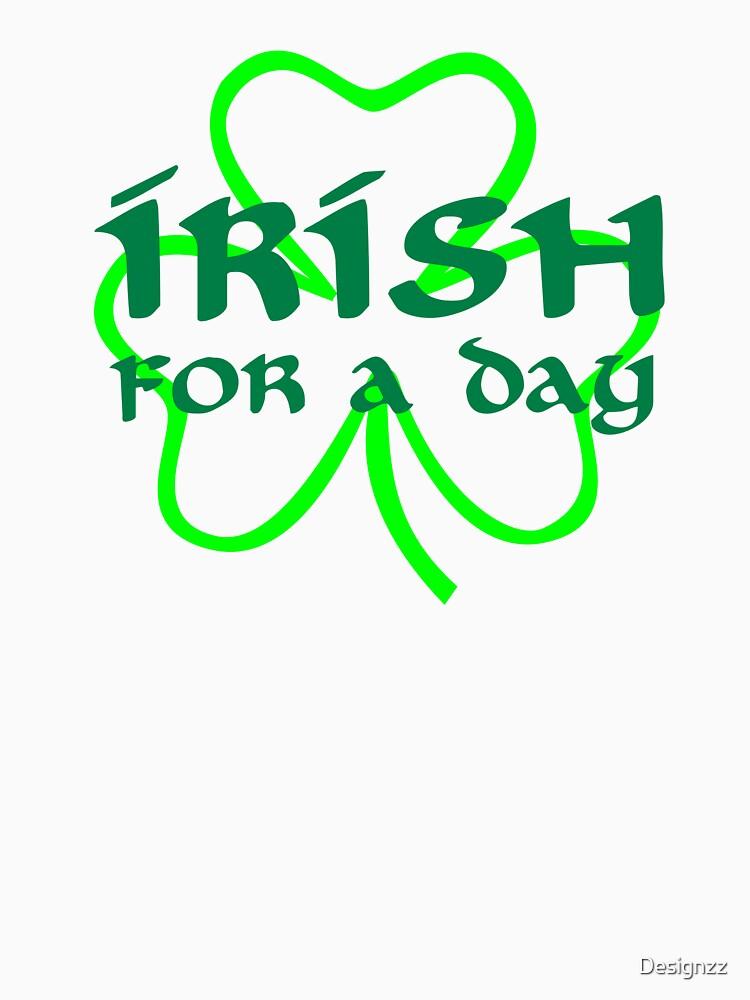 Irish for a day shamrock by Designzz
