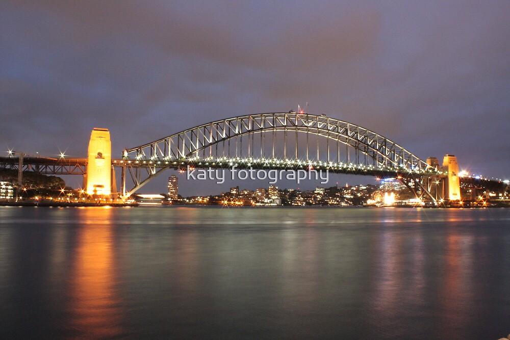 Sydney Harbour Bridge Lit Up by katy fotography