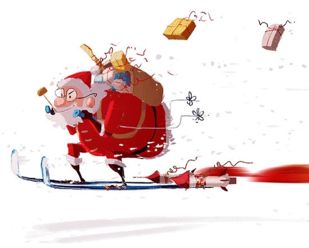Father Christmas work 1 by akmanm