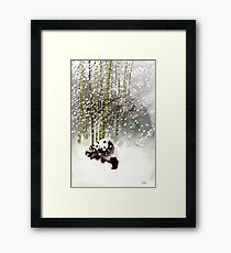 Pandas In The Snow Framed Print