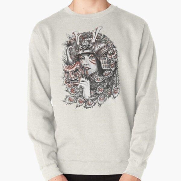 Peacock Samurai Pullover Sweatshirt