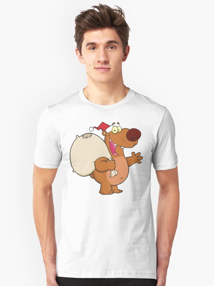 Santa Dog  Unisex T-Shirt Front