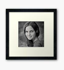 Gracie, sweet and simple Framed Print