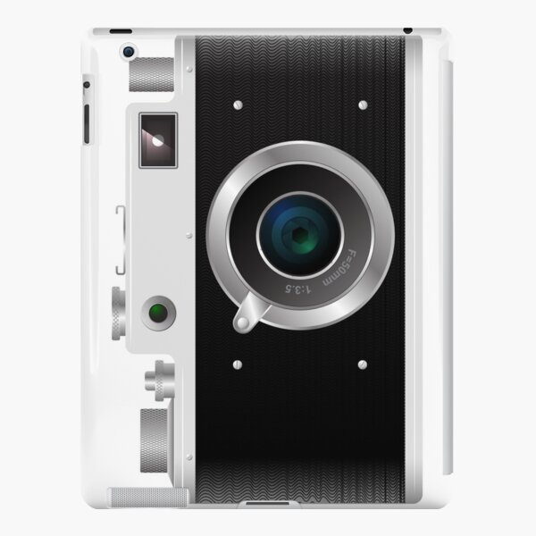 Old rangefinder film camera on a white background iPad Snap Case
