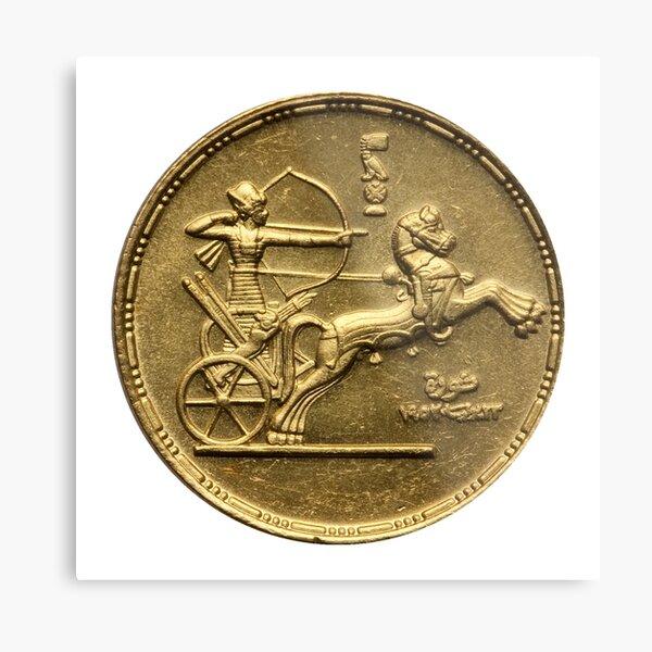 Egypt Republic Gold Pound 1952 Metal Print