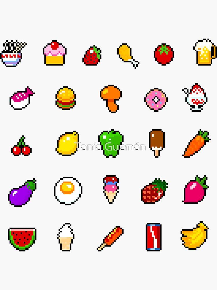 Sticker « Nourriture - pixel art », par galegshop | Redbubble