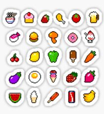 Food - pixel art Sticker