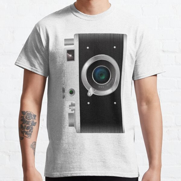 Old rangefinder film camera on a white background Classic T-Shirt