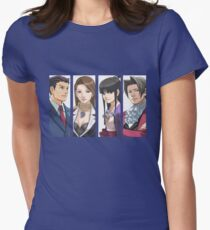 Ace Attorney Panels Womens Fitted T-Shirt