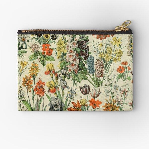 Adolphe Millot Fleurs Vintage Flowers Zipper Pouch