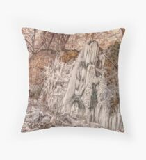 Bad Urach Waterfall, Southern Germany Throw Pillow