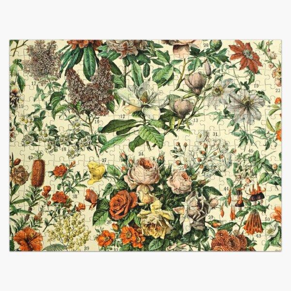Adolphe Millot Fleurs Vintage Flowers Jigsaw Puzzle