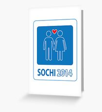 Sochi Love Games 2014 Greeting Card