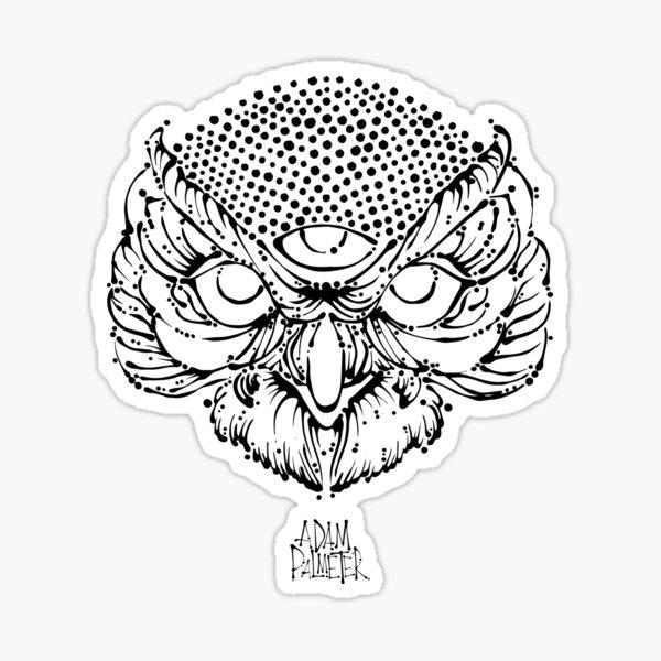 3rd EyevOwlBlack Sticker