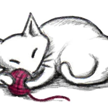 Yarn Kitty - white edition de sophielk
