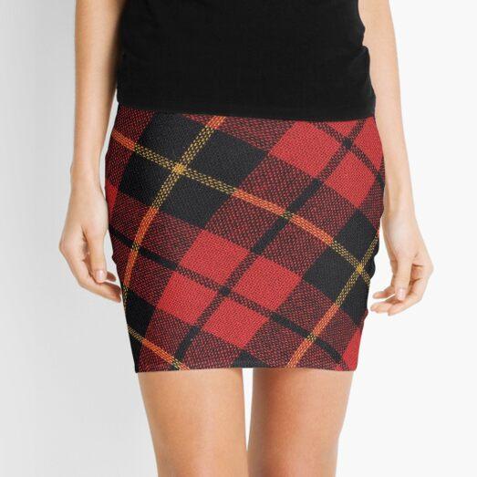 Clan Wallace Tartan  Mini Skirt