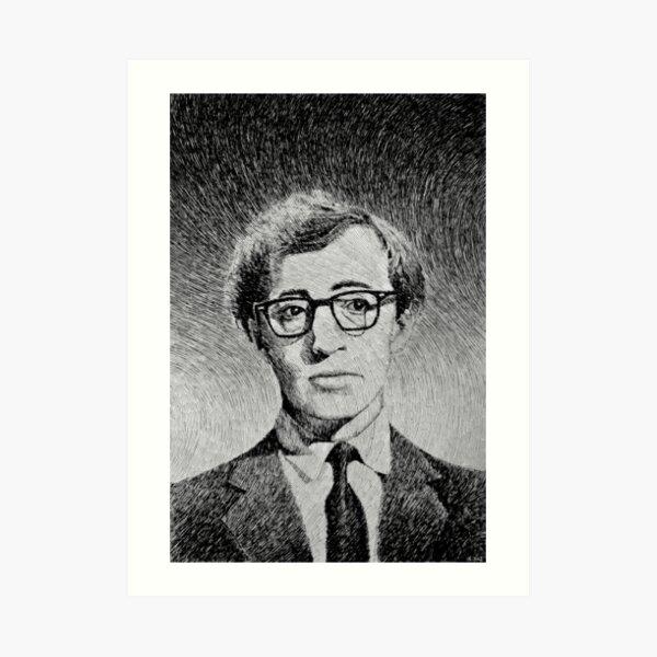 Woody Allen portrait Art Print