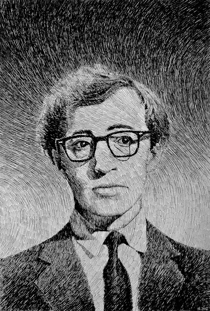 Woody Allen portrait by nicolasjolly