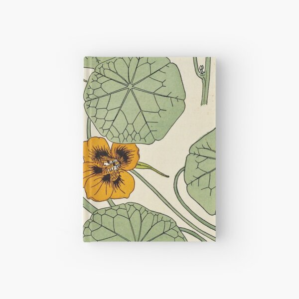 Maurice Verneuil - Capucine - botanical poster Hardcover Journal